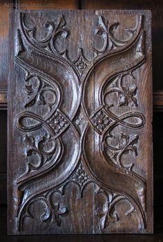 16th Century Oak Parchemin Panel