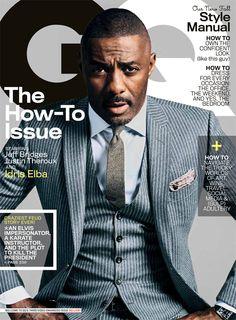 actor Idris Elba by Sebatian Kim for GQ US October 2013