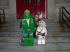 """I had an absolute blast this year making my son's costumes. At first when my oldest son asked me to make him a Lego ninjago I was like"""" I'm so in trouble"""". Homemade Costumes, Homemade Halloween, Diy Costumes, Halloween Costumes For Kids, Adult Costumes, Halloween Party, Halloween Ideas, Lego Ninjago, Brother"""