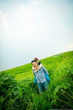 大草原でドライブエンゲージメントフォト @平尾台 part 2 - ○○しゃしんのじかん    http://blog.goo.ne.jp/moriken_photo/