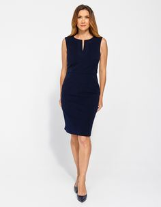 Image for Tyra Twill Shift Dress from JacquiE