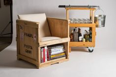 Ordinaire FURM By Peveto Stylish Furniture Made From Repurposed Shipping Crates  HomeToneorg Crate Furniture, Funky Furniture