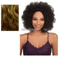 Vivica Fox Amore Mio Lace Front Feres - Color P4/33/GO - Synthetic (Curling Iron Safe) Regular Lace Front Wig