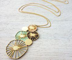 Bloom Necklace signature necklace botanic by shlomitofir on Etsy, $69.00