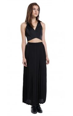 Evening Capsule Collection by Sandro - Pleated Two Piece Dress