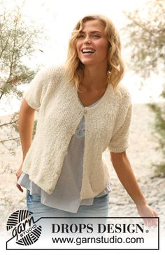 "Knitted DROPS jacket in ""Alpaca Boucle"" or ""DROPS ♥ You #3"". Size: S - XXXL. ~ DROPS Design"