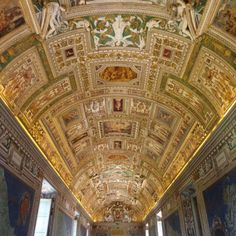 The art on the roof of the Vatican Museum. #vatican #rome #italy #rtw #travel