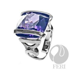 - 925 fine sterling - micron natural rhodium plating - Set with amethyst Sterling Silver Pendants, 925 Silver, Silver Rings, Green Quartz, Amethyst, Jewelry Accessories, Rings For Men, Fine Jewelry, Bling