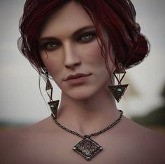 Triss Merigold Witcher 3, The Withcer, The Witcher Wild Hunt, Witcher Art, Blood Elf, Dark Fantasy Art, Face Art, Art Faces, Heart Of Gold