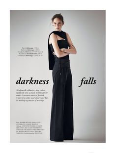 visual optimism; fashion editorials, shows, campaigns & more!: darkness falls: laura sorensen by henrik bulow for eurowoman december 2014