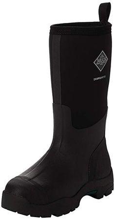 5132f2eee57 Muck Mens Derwent II Black Rubber Boots 10 US