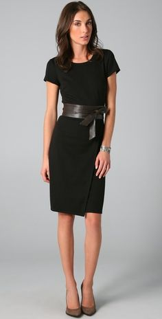 The simple black dress-classy