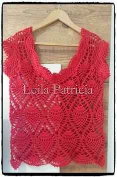 B Crochet Dresses, Crochet Tops, Crochet Woman, Cardigans, Sweaters, Vests, Weave, Fiber, Scrapbooking