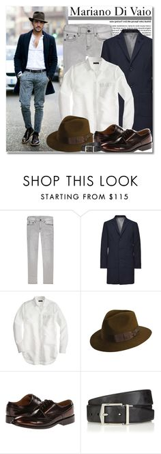 """""""Mariano Di Vaio - How to Style a Fedora for Men"""" by anne-mclayne ❤ liked on Polyvore featuring J.Crew, Paul Smith, Burberry, women's clothing, women, female, woman, misses and juniors"""