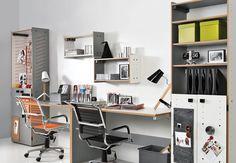 #vox #lsmart #wnętrze #aranżacja #inspiracje #projektowanie #projekt #remont #design #room #home #meble #pokój #dom #mieszkanie #HomeDecor #fruniture #design #interior #szafa #półka #regał #szafka #oryginalne #kreatywne #nowoczesne #pojemne #biurko Types Of Wood, Office Desk, Corner Desk, Bookcase, Drawers, Shelves, Furniture, Home Decor, Childrens Rooms