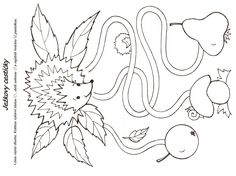 pracovní listy podzim - Hledat Googlem Educational Activities, Kids Rugs, Autumn, Sewing, Creative, Pattern, Crafts, Decor, Craft Ideas