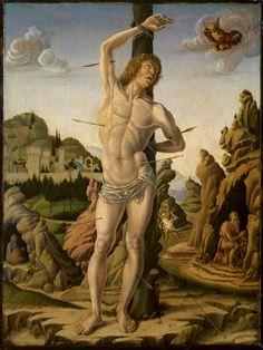 Marco Zoppo, (1433-1478), St. Sebastian (1475), Courtauld Institute Gallery, London.