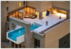 Piscine au design spectaculaire à Dallas, The Joulle Hotel Pool. Amazing Swimming Pools, Swimming Pool Designs, Awesome Pools, Underwater Swimming, Amazing Architecture, Interior Architecture, Miami Architecture, Residential Architecture, Interior Design