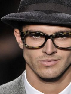GLASSES. and i would be smirking like that too if i had them on.
