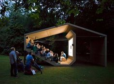 The People's Cinema, Pavillon, Design © Erika Hock Outdoor Stage, Outdoor Cinema, Outdoor Theater, Urban Landscape, Landscape Design, Landscape Fabric, Garden Design, Landscape Architecture, Interior Architecture