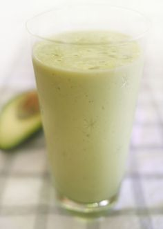 Avocado smoothie  1 ripe avocado, halved and pitted  1 cup milk  1/2 cup vanilla yogurt  3 tablespoons honey  8 ice cubes