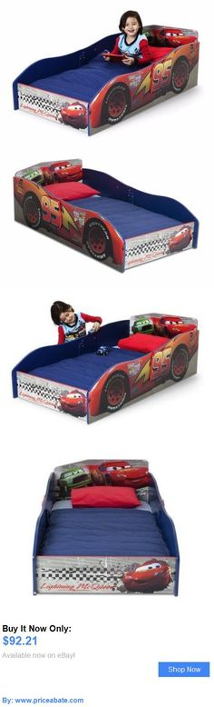 Kids Furniture: Disney Pixar Cars Funny Wooden Toddler Bed Kids Room Mcqueen Car Decor Furniture BUY IT NOW ONLY: $92.21 #priceabateKidsFurniture OR #priceabate