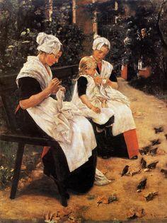 Max Liebermann - Amsterdam Orphans in the Garden (1885)
