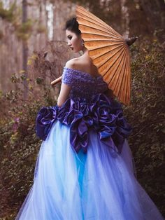 Earthling - Ricky Lindsay Couture #couture #gown #bridal #purple #geisha