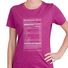 Womens Everyday Runners Tee Marathoner Facts | Running Womens Cotton Tshirts
