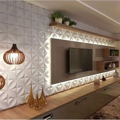 Wall Panel Design, Tv Wall Design, Design Case, 3d Wall Panels, Wall Texture Design, Home Interior, Living Room Interior, Living Room Decor, Interior Design