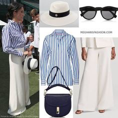 Meghan Markle - Duchess of Sussex style Meghan Markle Outfits, Meghan Markle Style, Meghan Markle Fashion, Mode Outfits, Fashion Outfits, Fashion Trends, Estilo Kate Middleton, Look Office, Kate And Meghan