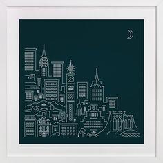 goodnight new york by Jennifer Wick at minted.com