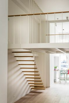 Modern attic stairs ideas provide easy access without any bulky structure. Make these stairs the main feature in your house. Attic Renovation, Attic Remodel, Plan Wc, Escape Space, Stair Ladder, Slanted Ceiling, Extra Bedroom, Master Bedroom, Attic Stairs