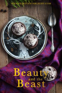 """A recipe for the Master's cupcake with the """"grey stuff"""" inspired by the Disney World restaurant, Be Our Guest, for the movie, Beauty and the Beast."""
