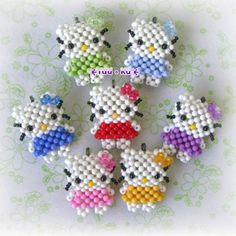 Hello Kitty charm tutorial