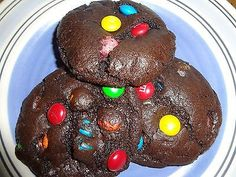 Homemade Soft & Chewy Brownie M&M Cookies (2 Dozen)