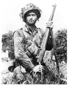 U.S. Paratrooper, Normandy, 1944, Life Magazine photo. - http://www.rgrips.com/new-products    WWII