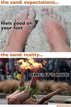 beach expectations vs reality... at least here in the Middle East..