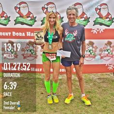 Mount Dora Half marathon, 2nd Overall female $150 cash! Not bad for a marathon paced training run! I'm so happy I wasn't racing this today, this was probably one of the most humid halfs I've ever ran. Not to mention the hills!!! Lol. It was 71 at the start and 100% humidity. It's amazing how much harder it is to run well in those conditions. This was a good day to back off and stick to my plan. I'm just praying we get a cold front for Disney in 3 weeksBy @heather_runs74 #zensah…