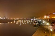 Elbufer bei Nacht im Nebel......