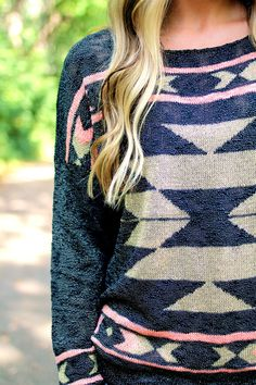 End of Summer Aztec Sweater Aztec Patterns, Cute Fashion, Womens Fashion, Aztec Sweater, Cool Style, My Style, Weekend Wear, Classy And Fabulous, Sweater Weather