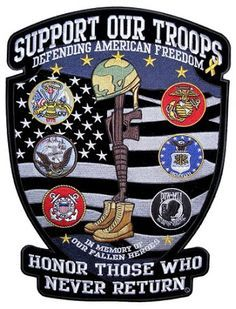 Support Our Troops US Military Shield Army Navy Marines Veteran Large Patch American Flag Military Quotes, Military Love, Military Police, Usmc, Military Uniforms, Military Insignia, Military Humor, Military Personnel, Navy Marine