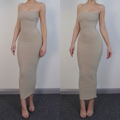 Maxi bodycon tube dress – Woman dresses line Dressy Outfits, Night Outfits, Chic Outfits, Sexy Outfits, Sexy Dresses, Cute Dresses, Fashion Outfits, Long Tight Dresses, Woman Outfits