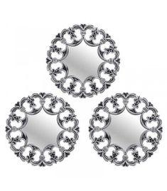 Set 3 oglinzi argintii Destiny, Heart Ring, Wedding Rings, Number 3, Engagement Rings, Jewelry, Gardens, Enagement Rings, Jewlery