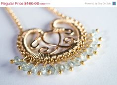 Gold Filigree Necklace by mosaicdesign, so gorgeous! Really admire this designer :)