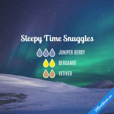 Sleepy Time Snuggles - Essential Oil Diffuser Blend #Essentialoildiffusers