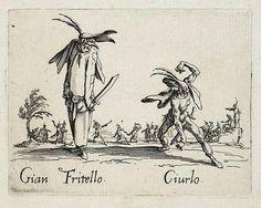 Gian Fritello and Ciurlo, from Balli di Sfessania (c.1622)