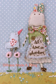 Mixed Media Photographic print 'Let's Have An door RosieMadeAThing