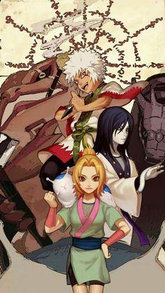 The 3 Sannins Wallpaper  Tsunade, Orochimaru, Jiraiya ❤️❤️❤️