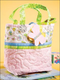 Quilting - Clothing & Accessories Patterns - Bag & Tote Patterns - Little Miss Toy Tote